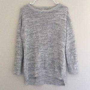 Lou & Grey marled side zip tunic sweater gray S